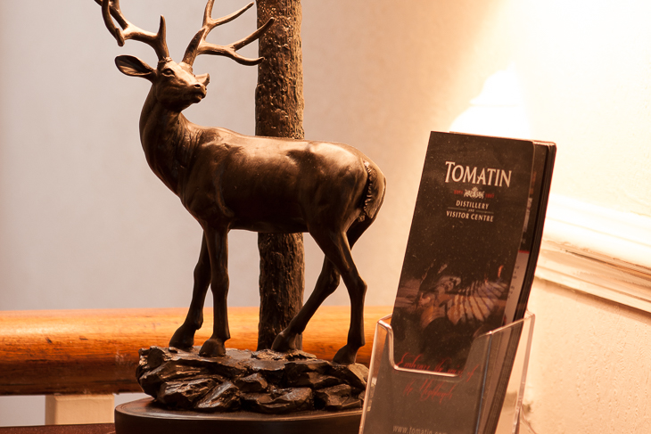 Picture of a Stag Lamp and Tomatin Distillery Visitor Centre Leaflets and The Ness Guest House B&B Inverness